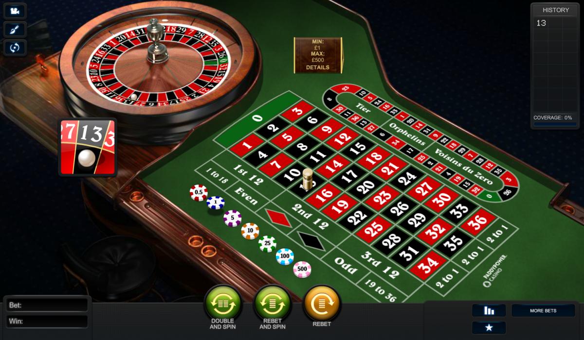 играть в казино европейская рулетка