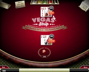 Правила игры Vegas Strip Blackjack